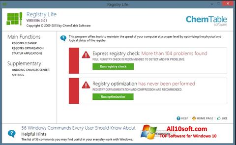 Screenshot Registry Life Windows 10