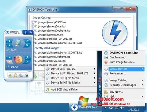 Screenshot DAEMON Tools Lite Windows 10