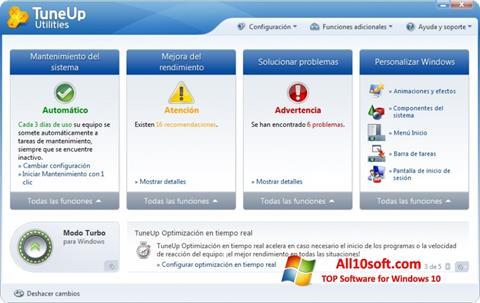 Screenshot TuneUp Utilities Windows 10