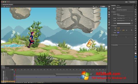 Screenshot Adobe Flash Professional Windows 10