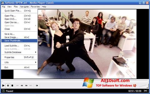 Screenshot Media Player Classic Windows 10