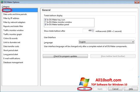 Screenshot DU Meter Windows 10