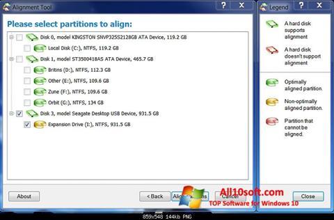 Screenshot Paragon Alignment Tool Windows 10