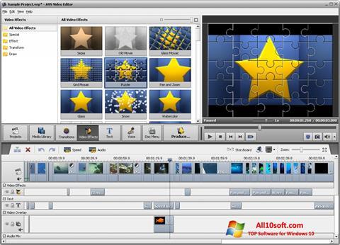 Screenshot AVS Video Editor Windows 10