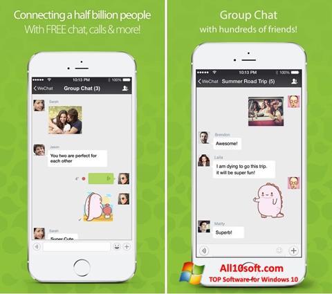 Screenshot WeChat Windows 10