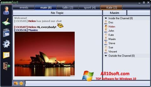 Screenshot CommFort Windows 10