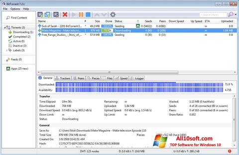 Screenshot BitTorrent Windows 10