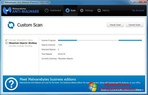 Screenshot Malwarebytes Anti-Malware Free Windows 10
