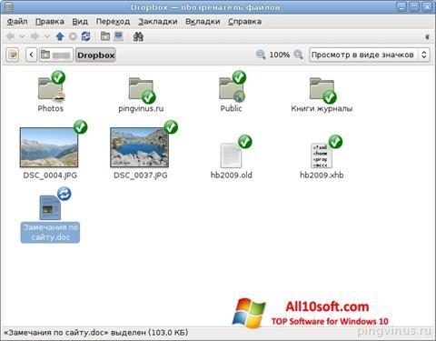 Screenshot Dropbox Windows 10