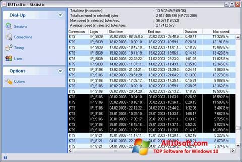 Screenshot DUTraffic Windows 10