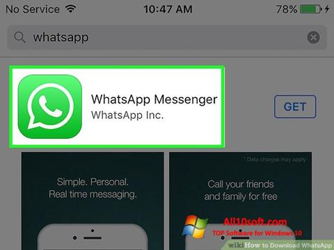 Screenshot WhatsApp Windows 10