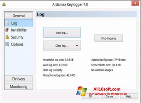 Screenshot Ardamax Keylogger Windows 10