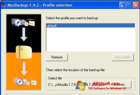 Screenshot MozBackup Windows 10