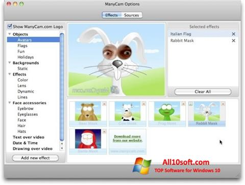 Screenshot ManyCam Pro Windows 10