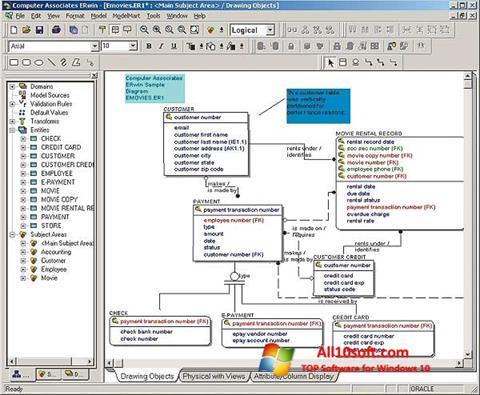 Screenshot ERWin Windows 10