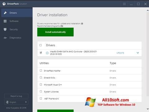 Screenshot DriverPack Solution Windows 10