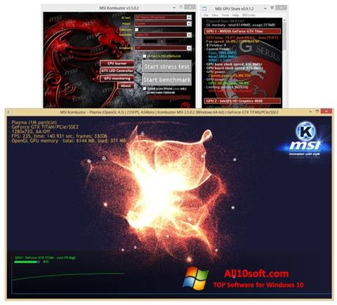 Screenshot MSI Kombustor Windows 10