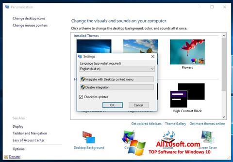 Screenshot Personalization Panel Windows 10