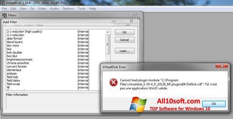 Screenshot VirtualDub Windows 10