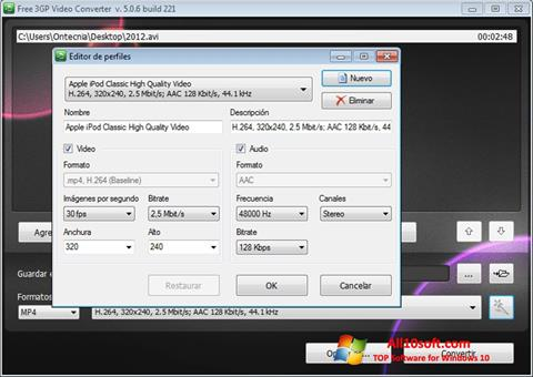 Screenshot Free MP4 Video Converter Windows 10
