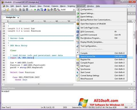 Screenshot UltraEdit Windows 10